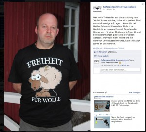 Screenshot Facebook vom 23.10.2012